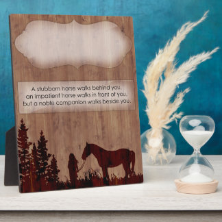 Customizable Horse Quote Stall Plaque