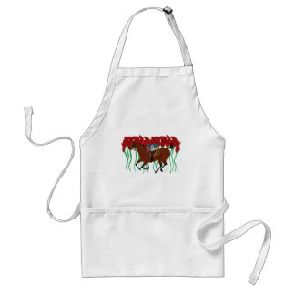 Customizable Horse Racing w/ Roses Design Standard Apron