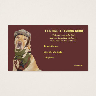 Customizable Hunting/Fishing Guide Business Card