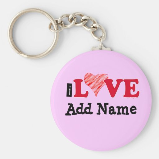 Customizable I Love Blank T-shirts and Gifts Key Chains