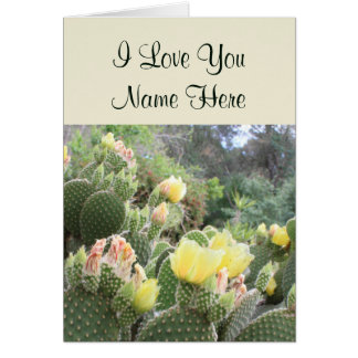 Customizable I Love You Cactus Note Card