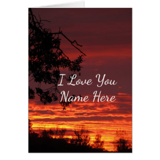 Customizable I Love You Sunset Note Card