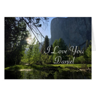 Customizable I Love You Yosemite Note Card