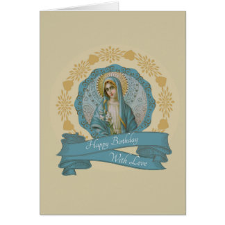 Customizable Immaculate Heart of Mary Card