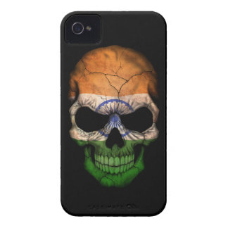 Customizable Indian Flag Skull iPhone 4 Case-Mate Cases