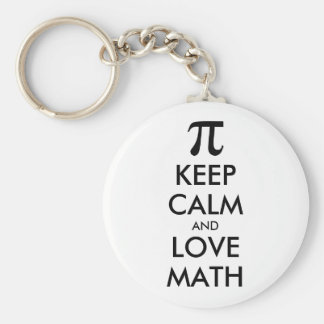 Customizable Internet meme KEEP CALM and LOVE MATH Keychain