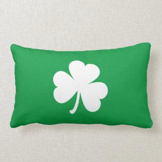 Customizable Irish Shamrock Lumbar Pillow