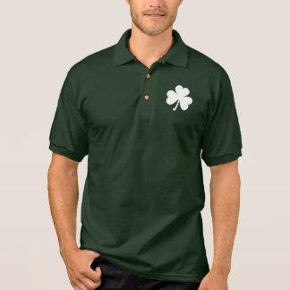 Customizable Irish Shamrock Polo Shirt