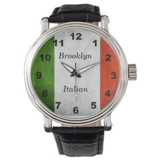 Customizable Italian Flag Heritage Watch