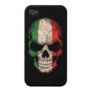 Customizable Italian Flag Skull Case For iPhone 4