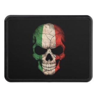Customizable Italian Flag Skull Tow Hitch Cover