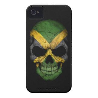 Customizable Jamaican Flag Skull iPhone 4 Case-Mate Cases