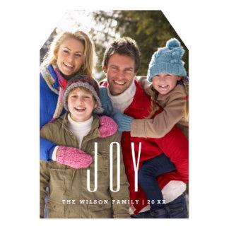 "Customizable Joy Photo Card Template 5"" X 7"" Invitation Card"