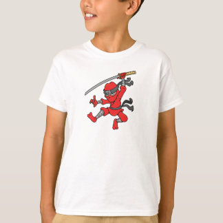 Customizable Jumping Ninja Design T-Shirt