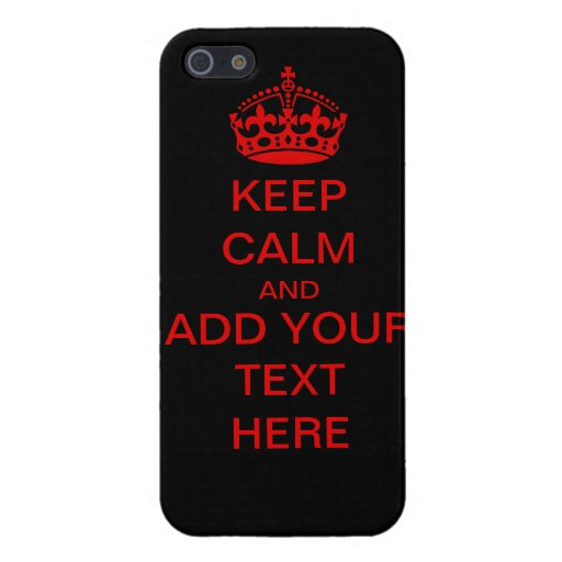 Customizable Keep Calm And Carry On iPhone Case Cases For iPhone 5