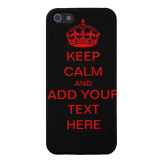 Customizable Keep Calm And Carry On iPhone Case Case For The iPhone 5
