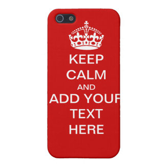 Customizable Keep Calm And Carry On iPhone Case iPhone 5/5S Covers
