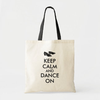 Customizable Keep Calm and Dance On Dancing Shoes Bag