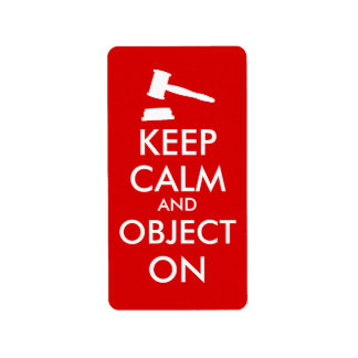 Customizable Keep Calm Lawyer Gift Object On Gavel