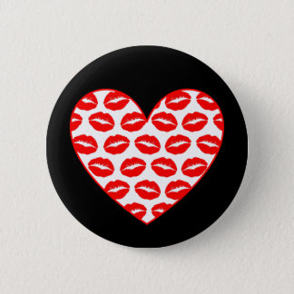 Customizable Kissy Lips Heart 2 Inch Round Button