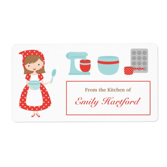 Customizable Kitchen Labels