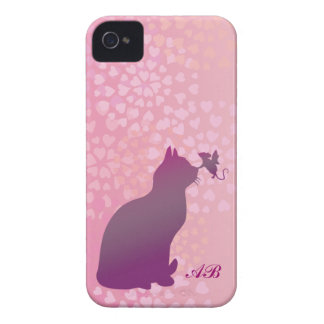 Customizable: Kitty and fairy mouse Case-Mate iPhone 4 Case