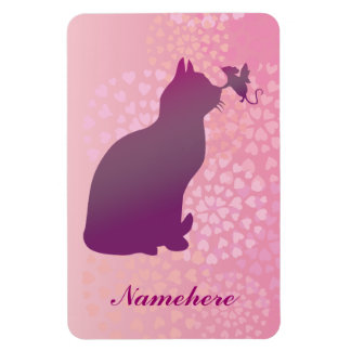 Customizable: Kitty and fairy mouse Rectangular Photo Magnet