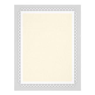 Customizable Lace Border Stationery (8.5x11)