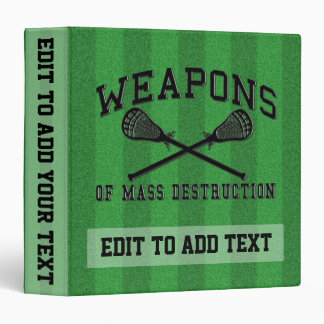 Customizable Lacrosse 3 Ring Binder, Personalize Vinyl Binders