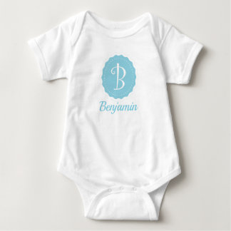"Customizable Letter ""B"" Baby Bodysuit"