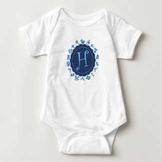 "Customizable Letter ""H"" Baby Bodysuit"