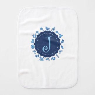 "Customizable Letter ""J"" Burp Cloth"