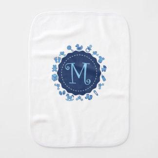 "Customizable Letter ""M"" Burp Cloth"