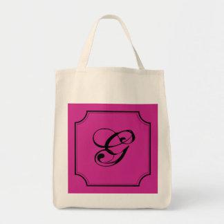 Customizable Letter Square Cut Corners Bag