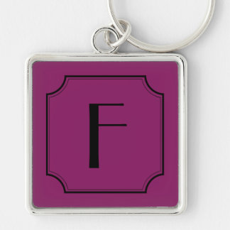 Customizable Letter Square Cut Corners Key Chain