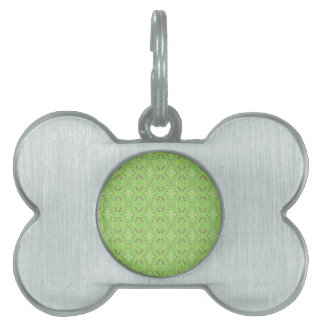 Customizable Light Lime Green Background Pet Tag