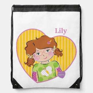 Customizable Lily Drawstring Backpacks