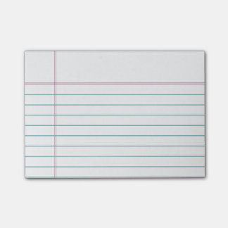 Customizable Lined Notebook Paper Sticky Notes