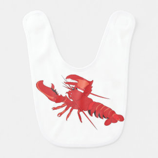Customizable Lobster Baby Bib