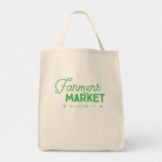 Customizable Local Farmers Market Tote in Green