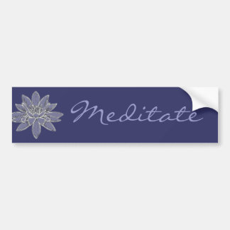 Customizable Lotus Art Bumper Sticker
