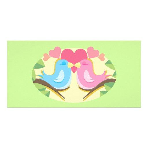 Customizable Love Birds Gifts Photo Cards
