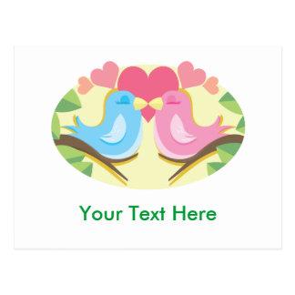 Customizable Love Birds Gifts Postcard