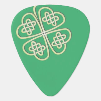Customizable Lucky Celtic Clover Guitar Pick