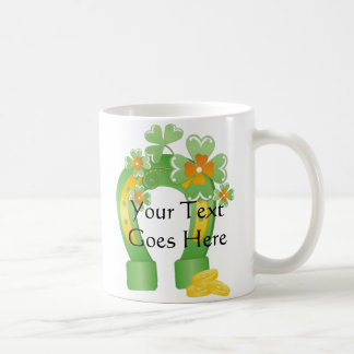 Customizable Lucky Horseshoe Mugs