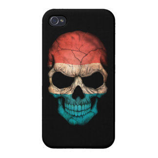 Customizable Luxembourg Flag Skull Cover For iPhone 4