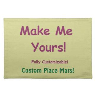 Customizable Machine Washable Table Decor Placemat