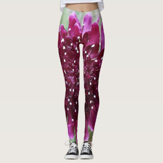 Customizable Magenta Flower Leggings-Yoga Pants