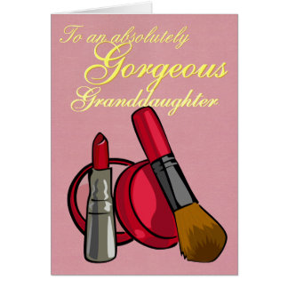 CUSTOMIZABLE Makeup Greeting Card