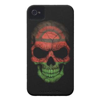 Customizable Malawi Flag Skull iPhone 4 Cases